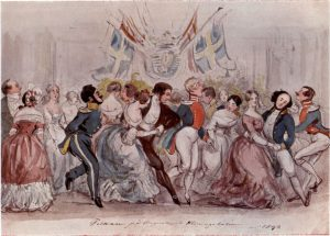Another ball in 1844. Elisabeth's father, J. G. Schwan is the first gentleman from the left.