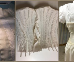 How do you make a Victorian laced corset?