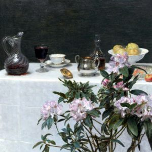 Still Life: Corner of a Table, 1873, by Henri Fantin-Latour (1836-1904)