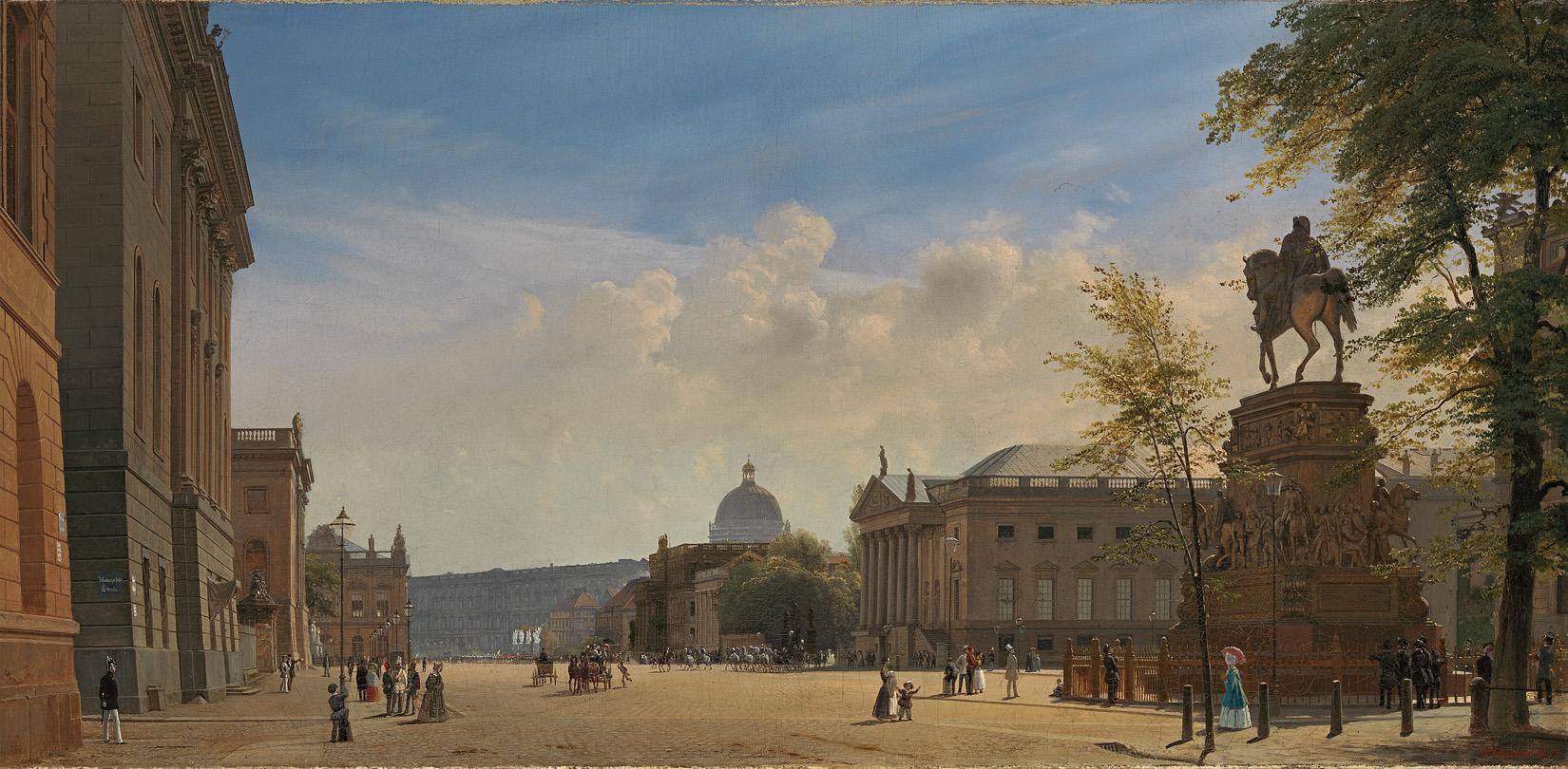 Eduard Gaertner ( 1801-1877) Unter den Linden mit Oper