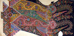 1848 design of a Paisley shawl, painted in gouache on paper