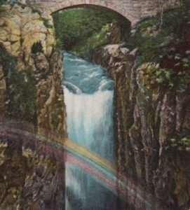 Painting of a waterfall in Trollhättan