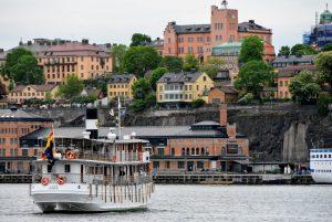 Juno departing Stockholm