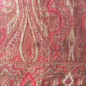 Scottish reversible square shawl c. 1850-1860