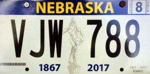 License plates celebrate the 150th anniversary of Nebraska becoming a state in 1867