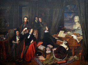 Franz Liszt Fantasizing at the Piano (1840), by Josef Danhauser