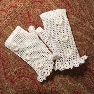 Fingerless, Irish Crochet Lace Gloves