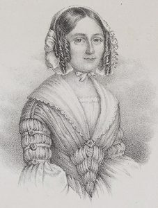 Sophie von Knorring (1797 – 1848). Drawing by Maria Röhl (1801 - 1875).