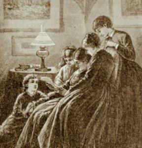 Illustration of Little Women. Frank T. Merrill. 1880