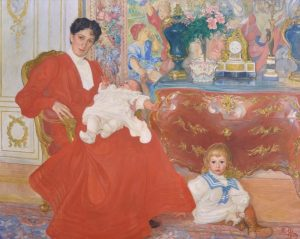 Dora Lamm with sons. Painting by Carl Larsson, 1903.