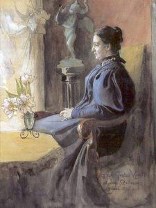 Eva Upmark (Eva Dorothea Helena Kindstrand). Painting by Carl Larsson, 1896.