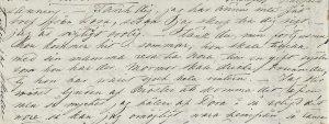 The original letter from Lotten regarding Dora.