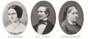 Berndt Nycander with his two wives - Marie-Louise Forsell and Adelaide Rütterskjöld