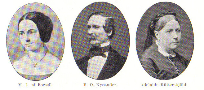 Berndt Nycander with his two wives - Marie-Louise af Forsell and Adelaide Rütterskjöld