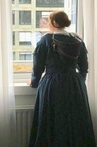 Kerstin in our hotel in Berlin