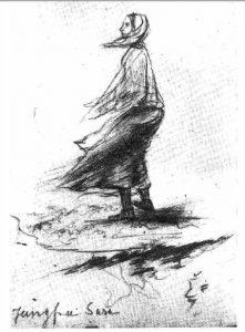 Jungfru Sara by Arnold Plagemann 1848-1850