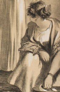 Detail of painting by Sir David Wilkie