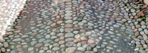"""""""Mayor's Stones"""" in the middle of the street on which Augusta lived as a newlywed (Lillgatan, Strängnäs,)"""