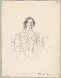 Elisabeth Schwan's mother, Augusta Eleonora Schön. Drawing by Maria Röhl.