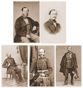 Augusta's lieutenants later in life. Top row: Knut and