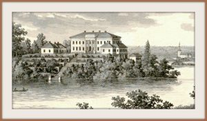Stjernsunds Castle in the 1850s