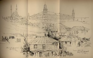 Lady Blackwood's drawing of the hospital at Scudari.