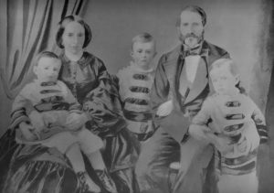 Elisabeth Cassel, born Schwan, and her family around 1856-57.