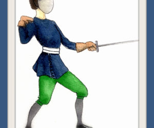 Titus Vincentius Röslein and Lotten Ulrich's fencing lessons