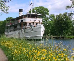 On the Göta Canal aboard M/S Juno
