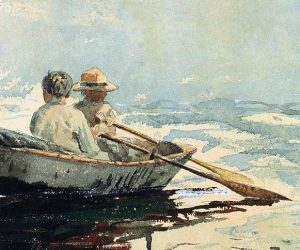 I can see Erik and Augusta in the rowboat