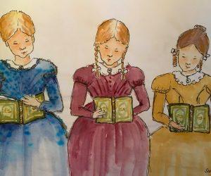 Mathilde Biel, Elise Biel, and Josefine Stenbock